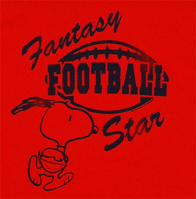 Fantasy Football Star - Peanuts Sheer T-shirt