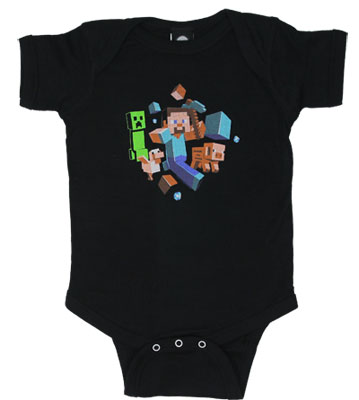 Run Away - Minecraft Infant Onesie