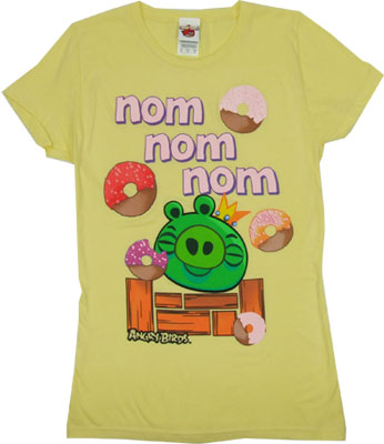 Nom Nom Nom - Angry Birds Sheer Women's T-shirt