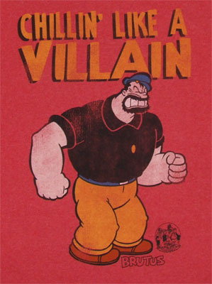 Chillin' Like A Villain - Popeye T-shirt