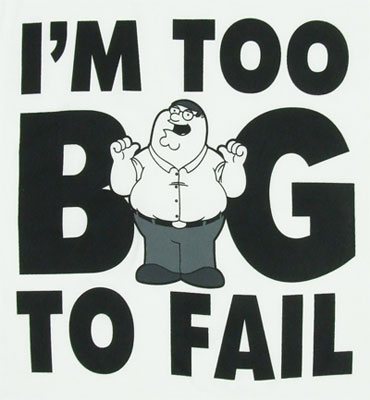 Too Big To Fail - Family Guy T-shirt