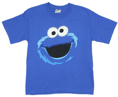 Cookie Monster Full Face - Sesame Street Toddler T-shirt