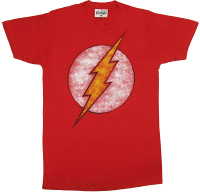 Faded Flash Logo - DC Comics Sheer T-shirt