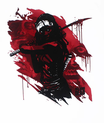 Michone Samurai - Walking Dead T-shirt