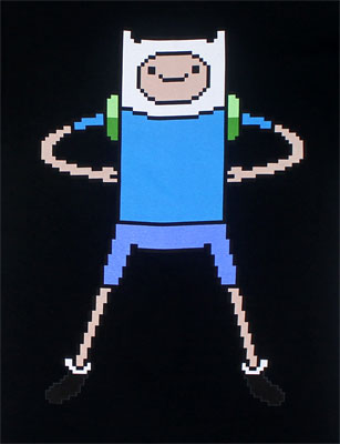 Pixel Finn - Adventure Time T-shirt