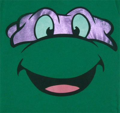 Donatello Face - Teenage Mutant Ninja Turtles Sheer Women's T-shirt
