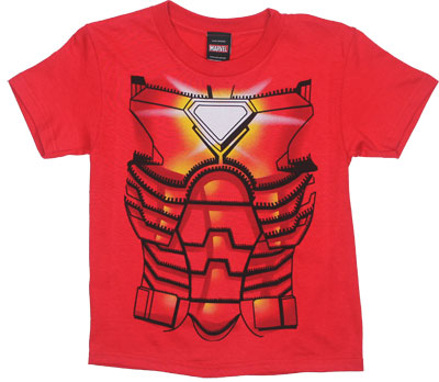 Ironman Costume - Marvel Comics Youth T-shirt