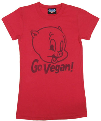 Go Vegan - Porky Pig - Junk Food Women's T-shirt