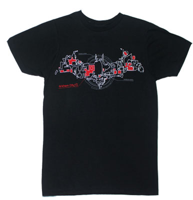 Map In Logo - Batman Arkham City Sheer T-shirt