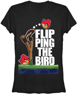 Flip The Bird - Angry Birds Sheer Women's T-shirt