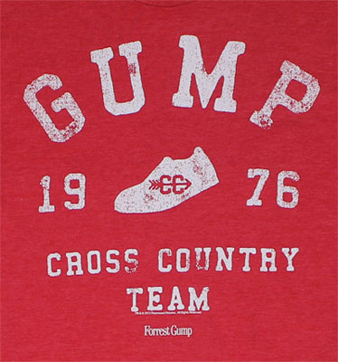 1976 Cross Country Team - Forrest Gump T-shirt