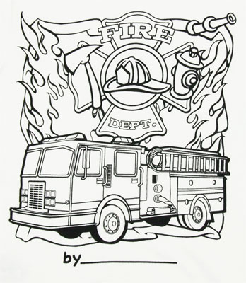 Color My Tee Fire Dept