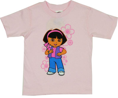 Dora With Flowers - Dora The Explorer Toddler T-shirt