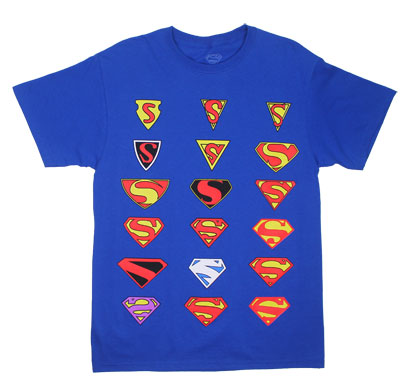 Superman Logos - DC Comics T-shirt