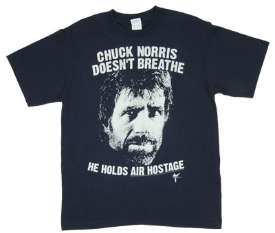 Chuck Norris Doesn't Breathe - Chuck Norris T-shirt