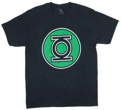 Green Lantern Mesh Logo - DC Comics T-shirt