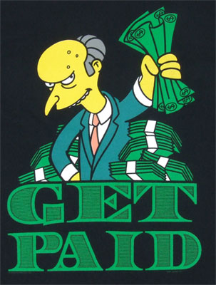 Get Paid - Simpsons T-shirt