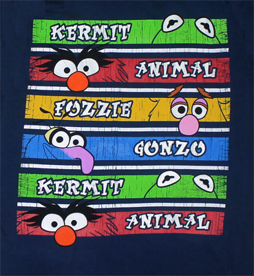 Muppets Stripes - Muppets Sheer T-shirt