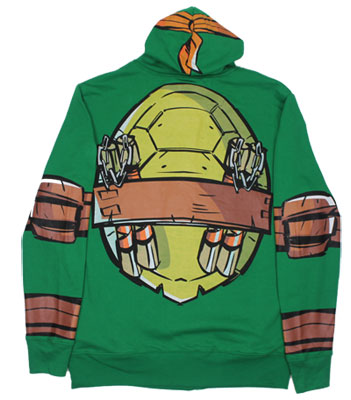 Michaelangelo Costume - Teenage Mutant Ninja Turtles Hooded Sweatshirt
