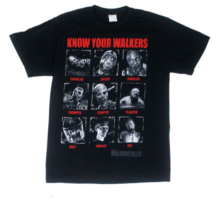 Know Your Walkers - Walking Dead T-shirt