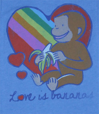 Love Is Bananas - Curious George - Junk Food Women's T-shirt