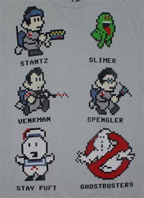 Pixelated Ghostbusters - Ghostbusters Sheer T-shirt