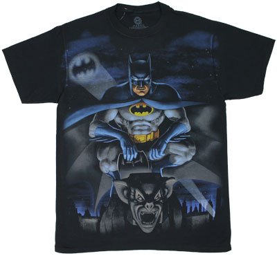 Batman On Gargoyle - DC Comics T-shirt