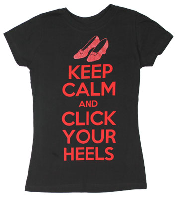 Keep Calm And Click Your Heels - Wizard Of Oz Sheer Women's T-shirt