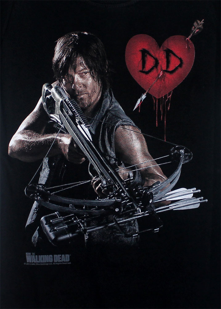 Daryl Crossbow Heart - Walking Dead Juniors T-shirt