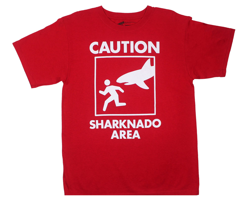 Caution Sharknado Area - Sharknado T-shirt