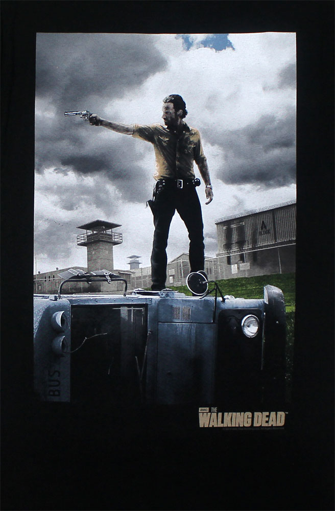 Rick On Top - Walking Dead Sheer T-shirt