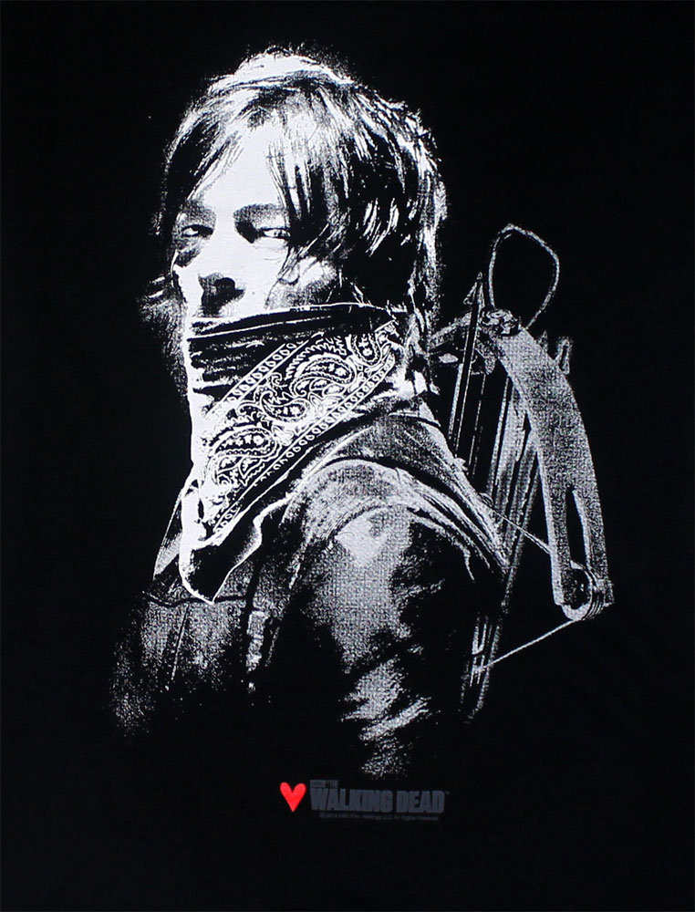 Daryl Wearing Bandana - Walking Dead Juniors Laser-Cut T-shirt