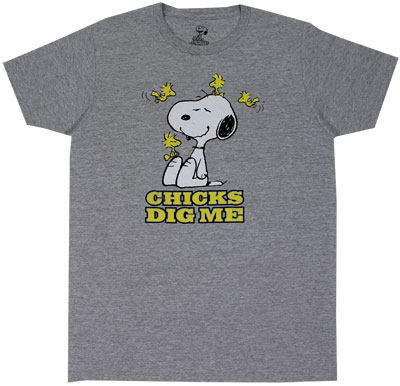 Chicks Dig Me - Peanuts Sheer T-shirt