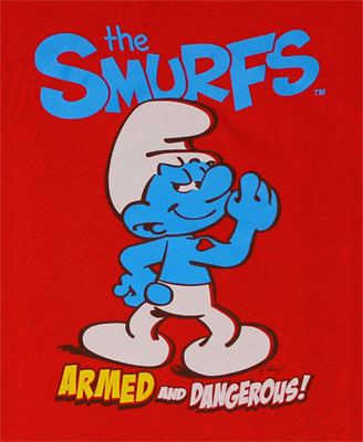 Armed And Dangerous - Smurfs Juvenile T-shirt