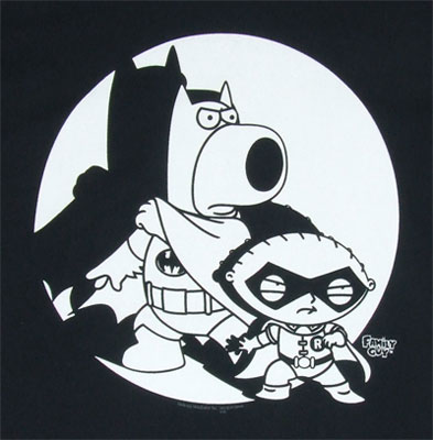 Batman And Robin - Family Guy T-shirt