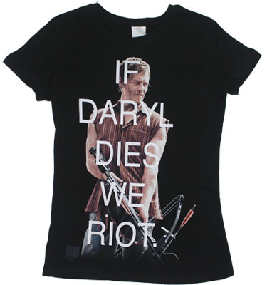 If Daryl Dies We Riot - Walking Dead Sheer Women&#039;s T-shirt