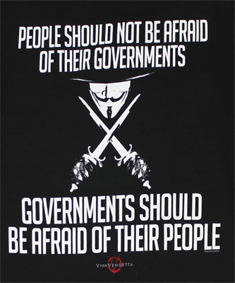 People Should Not Be Afraid - V For Vendetta T-shirt