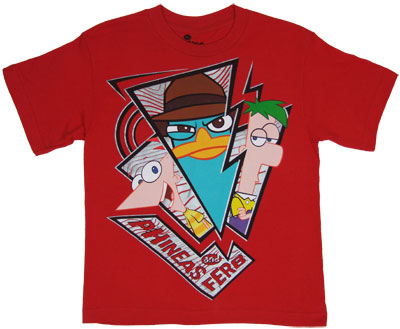 Triple Shot - Phineas And Ferb Youth T-shirt