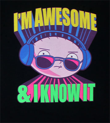 I'm Awesome And I Know It - Family Guy T-shirt