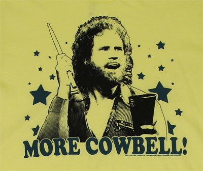 More Cowbell On Yellow - Saturday Night Live Sheer T-shirt