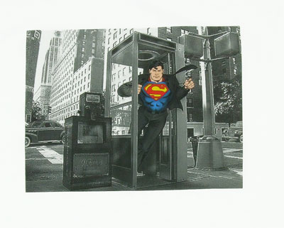 Phone Booth Photo - Superman - DC Comics T-shirt