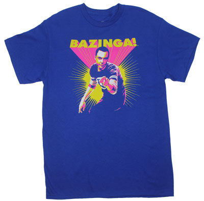 Neon Bazinga - Big Bang Theory T-shirt