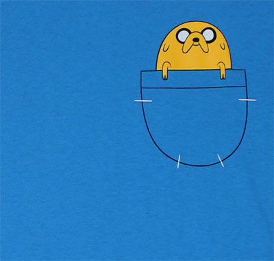 Jake In Pocket - Adventure Time T-shirt
