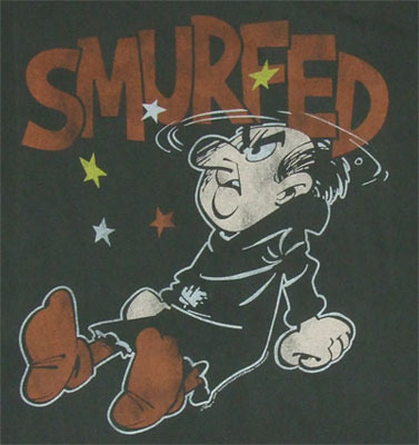 Smurfed - Junk Food Men's T-shirt