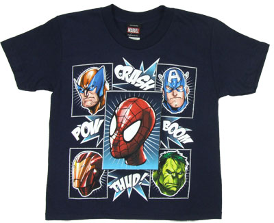 Hero Heads - Marvel Comics Juvenile T-shirt