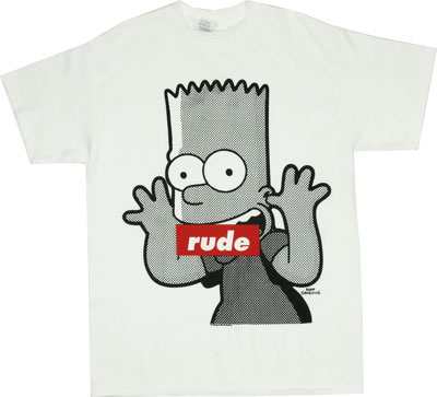 Rude - Bart - Simpsons T-shirt