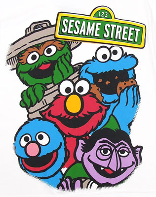 The Group - Sesame Street Juvenile T-shirt