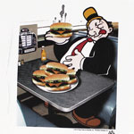 Burger Time - Popeye T-shirt