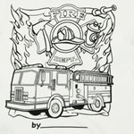 Fire Engine Color My Tee T-shirt