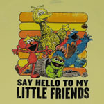 Hello To My Little Friends - Sesame Street Sheer T-shirt